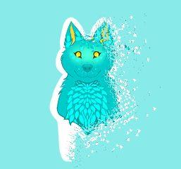 dispersion wolf blue goldeneyes cute