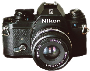 nikon vintage camera sticker black