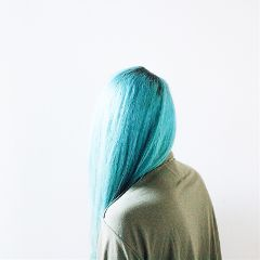 freetoedit girl hair bluehair sunlight