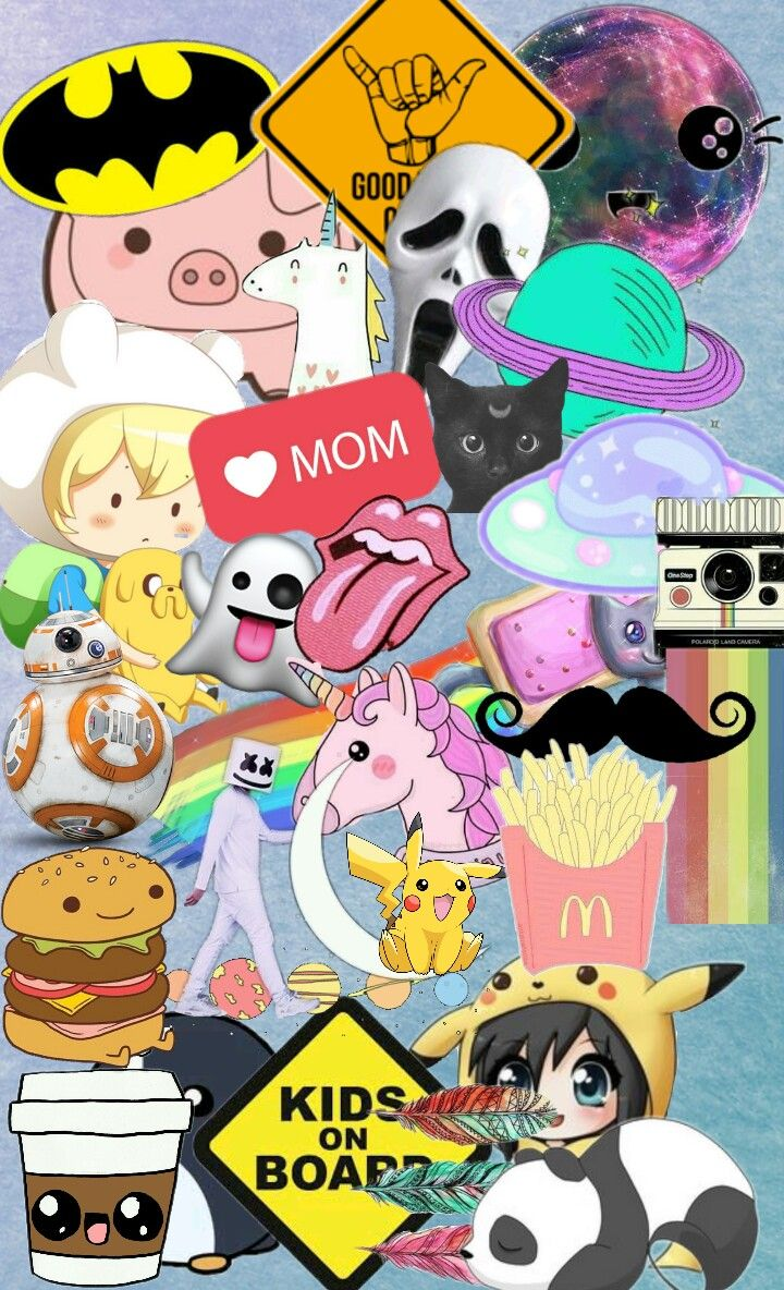 Wallpaper Happy Cute Collage Colorful Photography Freet