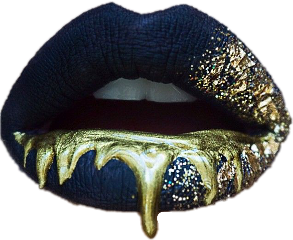 lips blacklips goldlips blackandgold blackandgoldlips
