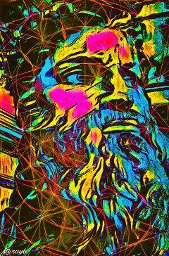 psychedelic popart retro vintage colorful