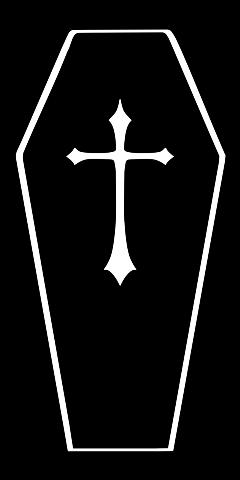 coffin goth cross dead death freetoedit