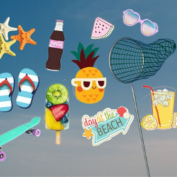 Use,photos,and,stickers,to,create,a,Summer,Mood,Board,for,the,win!