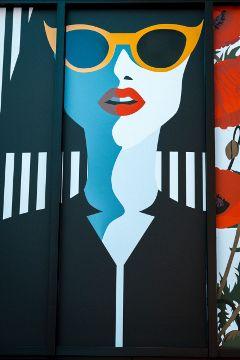 freetoedit girl sunglasses wall art