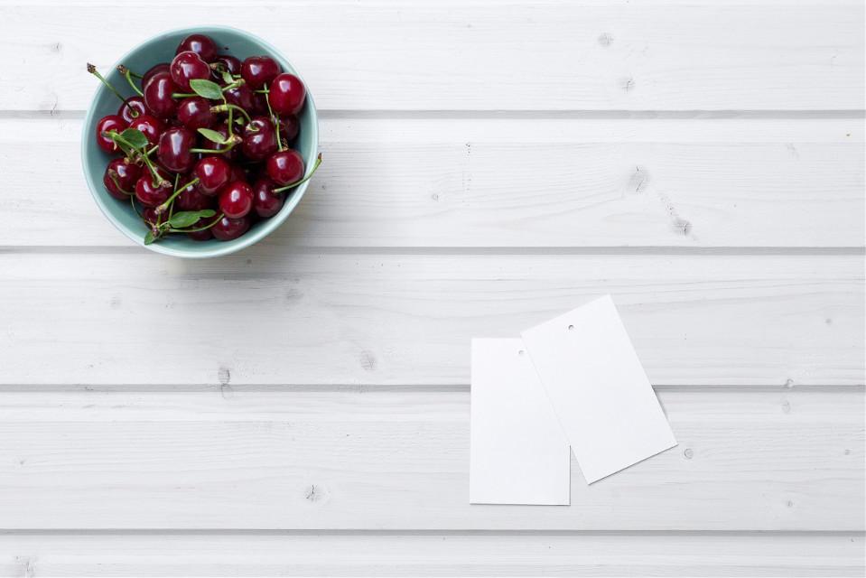 Make something sweet! #FreeToEdit #cherry #fruit #minimal #paper #object