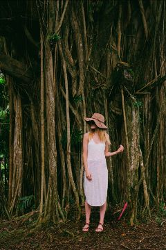 freetoedit girl tree nature people
