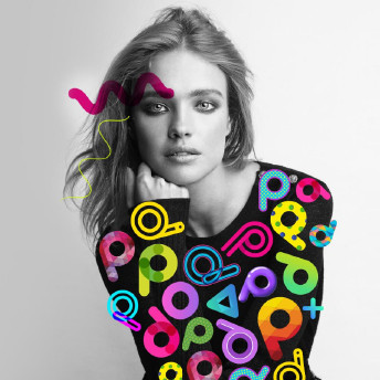 Vodianova with PicsArt stickers