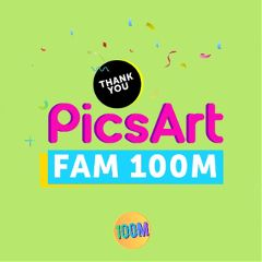 Help,PicsArt,celebrate,100,million,active,users,with,this,Edit,Challenge!,Remix,our,100,million,Stickers,for,the,win!
